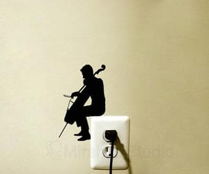 decal, music, and wall decals image