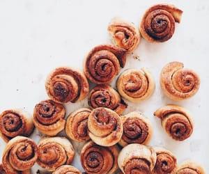 food, cinnamon rolls, and sweet image
