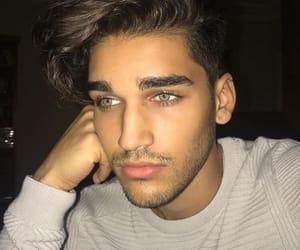 beard, blue, and eyes image