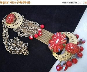 etsy, statement necklace, and runway necklace image