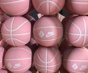 pink, nike, and Basketball image