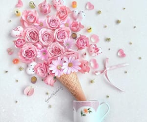 розовый, цветы, and весна image