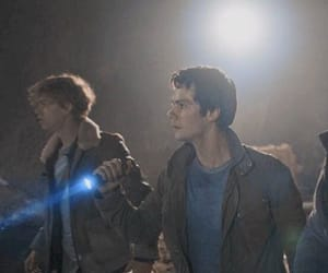 the maze runner, dylan, and newt image