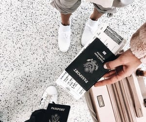 travel, passport, and style image