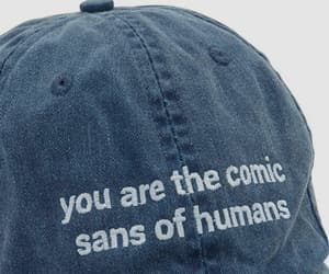 comic sans and blue image