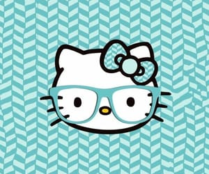blue, colors, and hello kitty image