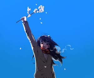 anime, cold, and flowers image
