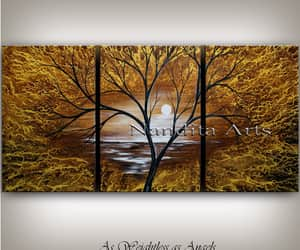 home decor, landscape painting, and fall decoration image