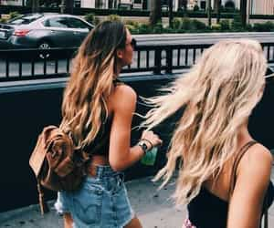 friendship, girls, and hair image