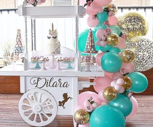 baby, balloons, and decoration image