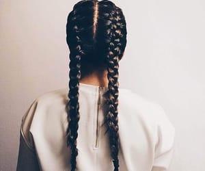beautiful, black, and braid image