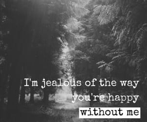 jealous, quotes, and sadness image