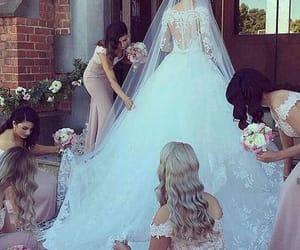 girl, wedding, and dress image