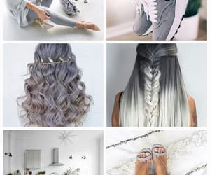 design, grey, and hair image