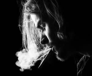 nirvana, kurt cobain, and smoke image