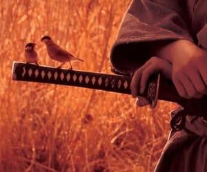 birds, katana, and sword image