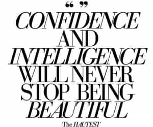 beautiful, confidence, and intelligence image