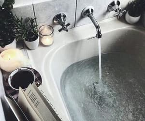 bath, water, and candle image