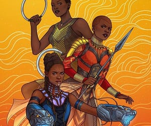 black panther, Marvel, and wakanda forever image