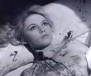 black and white, blood, and brigitte bardot image