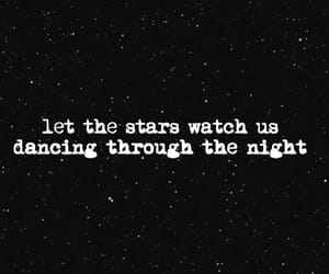 dancing, quote, and stars image