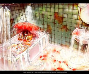 blood, yuumei, and alone image