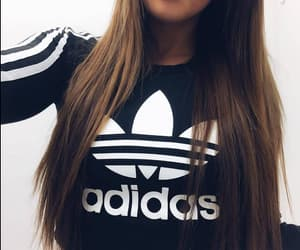adidas, outfit, and sweatshirt image