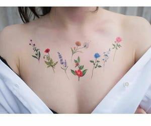 flowers, tatoo, and tatooflowers image