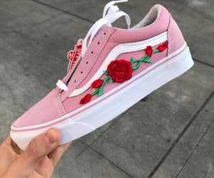 pink, shoes, and vans image