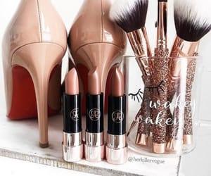 glitter, make up, and moda image
