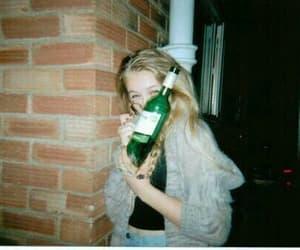 grunge, girl, and alcohol image