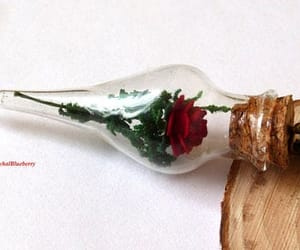 etsy, handmade necklace, and red rose image