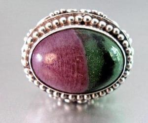 green, vintage ring, and renaissance fair image