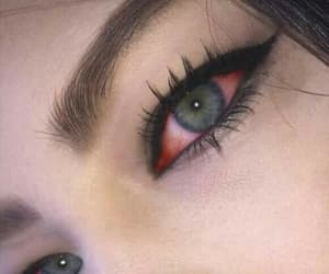 eyes, eye, and red image
