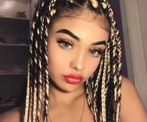 black, braids, and edges image