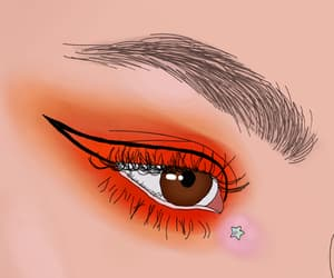art, bold, and brown eyes image