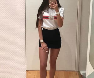 gucci, outfit, and skirt image
