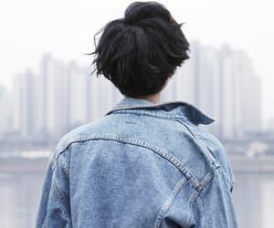 city, boy, and blue image