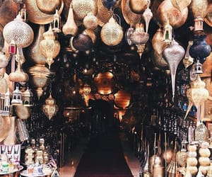 golden, indian, and lamps image