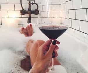 wine, bath, and relax image