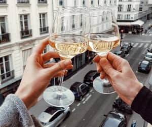 drink, wine, and couple image