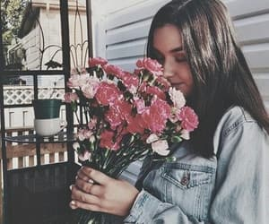 flowers, cute, and girl image