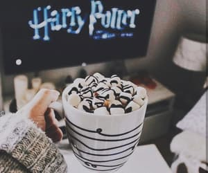harry potter, coffee, and cozy image