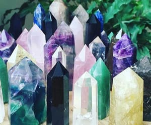crystals, crystal points, and crystal towers image