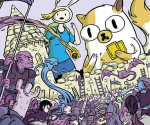 adventure time, fionna the human, and cake the cat image