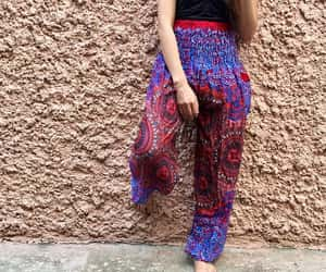 bohemian, tribal, and hippie pants image
