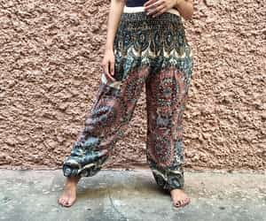 harem pants, hippie clothing, and festival clothing image