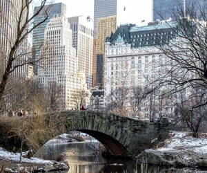 architecture, bridge, and the plaza hotel image