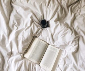 book, reading, and bed image