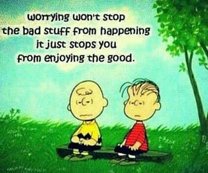 quotes, charlie brown, and worry image